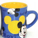 Disney Mickey Mouse Coffee Mug Blue Oh Boy Cup Theme Parks New