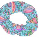 Easter Eggs Teal Fabric Hair Scrunchie Ties Pony Tail Holder Tie Scrunchies by Sherry