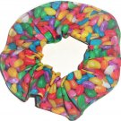 Jelly Beans Photo Fabric Hair Scrunchie Ties Pony Tail Holder Tie Scrunchies by Sherry