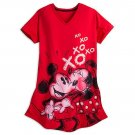 Disney Store Minnie Mickey Mouse Ladies Nightshirt Nightgown Red Size XS/S