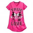 Disney Store Minnie Mickey Mouse True Love Ladies Nightshirt Nightgown Pink Size XL/XXL