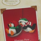 Hallmark Ornament Having Fun With Friends 2002 Collectors Club Penquins