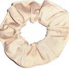 Tan Cotton Fabric Hair Ties Scrunchie Scrunchies by Sherry