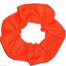 Bright Orange Cotton Fabric Hair Ties Scrunchie Scrunchies by Sherry