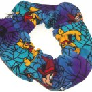 Disney Mickey Minnie Mouse Halloween Blue Fabric hair Scurnchie Scrunchies by Sherry