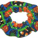 Halloween Pumpkins Patchwork Fabric hair Scurnchie Scrunchies by Sherry