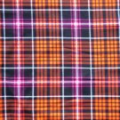 Halloween Purple Orange Plaid Fabric hair Scurnchie Scrunchies by Sherry