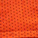 Tiny Black Polka Dots on Orange Fabric Hair Scrunchie Ties Scrunchies by Sherry
