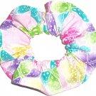 Butterflies Butterfly Glitter Fabric Hair Scrunchie Ties Scrunchies by Sherry