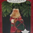 Hallmark Ornament Santa's Secret Gift Magic Music Holiday 1997 Jolly Old St Nick