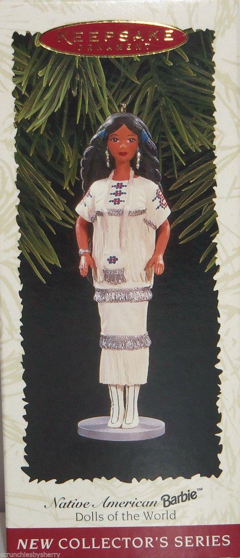 Hallmark Ornament Native American Barbie Christmas 1996 Dolls of the World