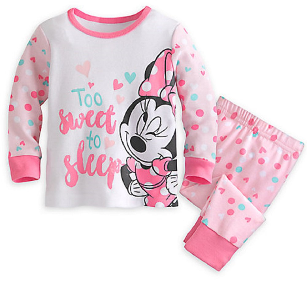 Disney Store Minnie Mouse PJ Pals for Baby Pajamas 0-3 Months