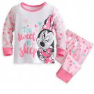 Disney Store Minnie Mouse PJ Pals for Baby Pajamas 12-18 Months