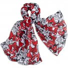 Disney Store Minnie Mouse Scarf Red Bows New 2016