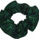 Green Metallic Spandex Hair Scrunchie Fabric Scrunchies by Sherry