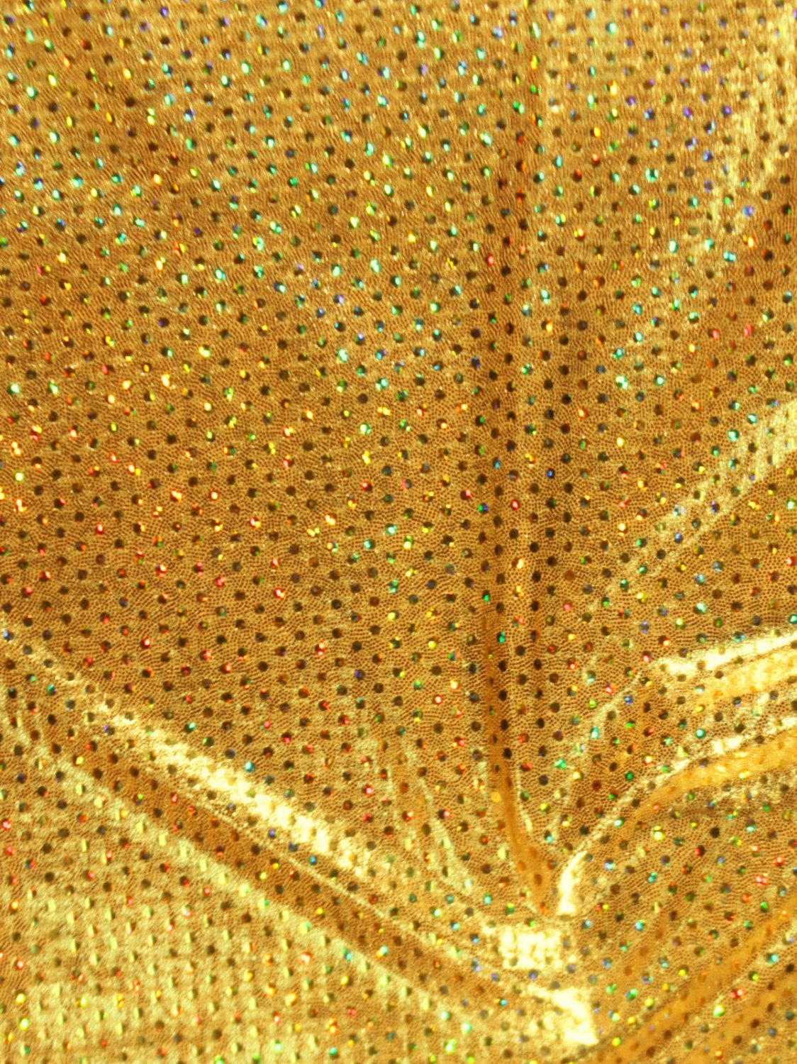 Gold Sequins Metallic Spandex Hair Scrunchie Fabric Scrunchies by Sherry