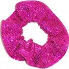 Fushcia Berry Metallic Spandex Hair Scrunchie Fabric Scrunchies by Sherry