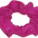 Fushcia Berry Sequin Metallic Spandex Hair Scrunchie Fabric Scrunchies by Sherry