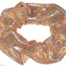 Gold Metallic Spandex Hair Scrunchie Fabric Scrunchies by Sherry