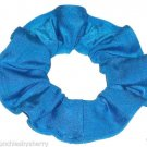 Turquoise Spandex Hair Scrunchie Fabric Scrunchies by Sherry