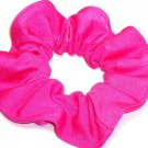 Neon Pink Spandex Hair Scrunchie Fabric Scrunchies by Sherry