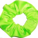 Neon Lime Green Spandex Hair Scrunchie Fabric Scrunchies by Sherry
