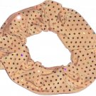 Gold Sequins Spandex Hair Scrunchie Fabric Scrunchies by Sherry
