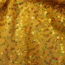 Gold with Sequins Spandex Hair Scrunchie Fabric Scrunchies by Sherry