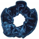 Jade Panne Velvet Fabric Hair Scrunchie Scrunchies by Sherry