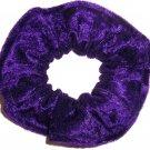 Purple Panne Velvet Fabric Hair Scrunchie Scrunchies by Sherry