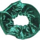 Emerald Green Panne Velvet Fabric Hair Scrunchie Scrunchies by Sherry