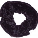 Black Panne Velvet Fabric Hair Scrunchie Scrunchies by Sherry