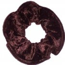 Dark Brown Panne Velvet Fabric Hair Scrunchie Scrunchies by Sherry