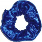 Royal Blue Panne Velvet Fabric Hair Scrunchie Scrunchies by Sherry