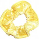 Yellow Panne Velvet Fabric Hair Scrunchie Scrunchies by Sherry