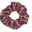 Animal Print Black Brown Hair Scrunchie Scrunchies by Sherry