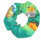 Tropical Fish Blue Fabric Hair Tie Scrunchie Scrunchies by Sherry
