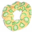 Frogs Hair Scrunchie Green Yellow Fabric Ties Scrunchies by Sherry