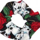 Bikers Skulls & Roses Fabric Hair Ties Scrunchie Scrunchies by Sherry