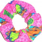 Hot Pink I Love Scooby Doo Fbric Hair Scrunchie Scrunchies by Sherry