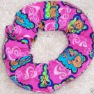 Hot Pink Scooby Doo Picture Frames Fabric Hair Scrunchie Scrunchies by Sherry
