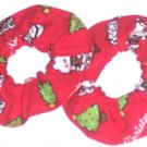 Merry Christmas Hello Kitty Mini Fabric Hair Scrunchie Scrunchies by Sherry Lot of 2