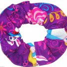 Disney Alice in Wonderland Cheshire Cat Purple Fabric hair Scurnchie Scrunchies by Sherry