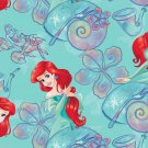 Disney Ariel The Little Mermaid Green Fabric hair Scurnchie Scrunchies by Sherry
