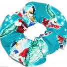 Disney Ariel The Little Mermaid Eric Ursula Teal Fabric hair Scurnchie Scrunchies by Sherry