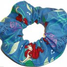 Disney Ariel The Little Mermaid blue Fabric hair Scurnchie Scrunchies by Sherry