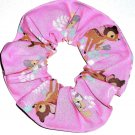 Disney Bambi Pink Fabric hair Scurnchie Scrunchies by Sherry