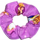 Disney Beauty and the Beast Purple Fabric hair Scurnchie Scrunchies by Sherry