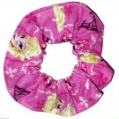 Disney Frozen Elsa Anna Pink Fabric hair Scurnchie Scrunchies by Sherry
