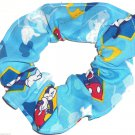 Disney Mickey Mouse Blue Fabric hair Scurnchie Scrunchies by Sherry